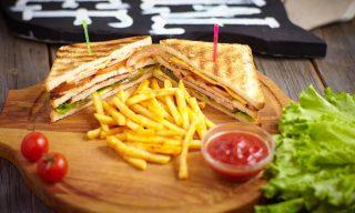 Клаб Сэндвич на мангале